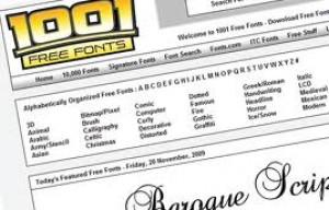 Fuentes tipográficas gratis en 1001freefonts.com