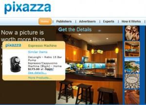 Pixazza, publicidad en las imagenes