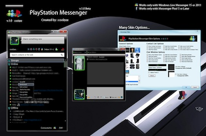 Playstation Messenger, Un Skin muy recomendable para Messenger