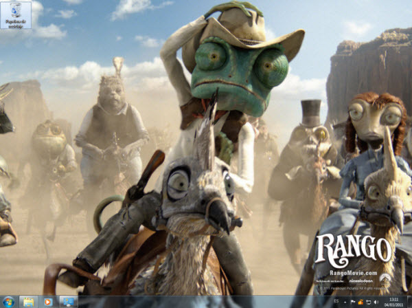 Rango, Tema de Escritorio para Windows 7