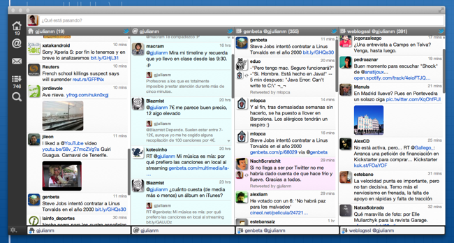 Janetter, cliente de Twitter para Windows y Mac