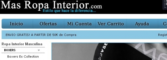 MasRopaInterior.com   Ropa Interior Masculina