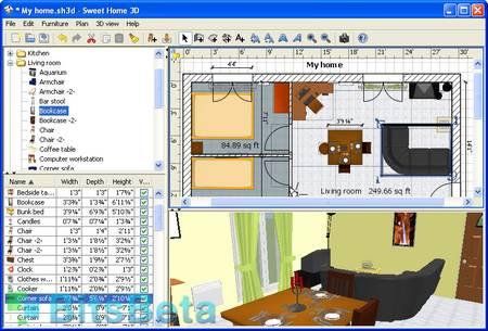 Sweet home 3d dise a planos en 3d for Programas para hacer casas virtuales
